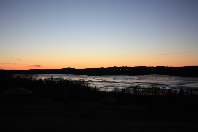 Sunset from Irving Nature Park, Saint John, NB (photo by Gillian)