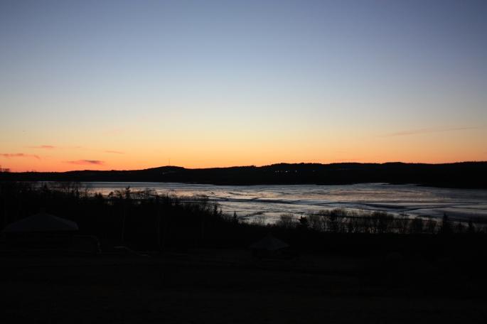 Sunset from Irving Nature Park, Saint John, NB (photo by Gillian)